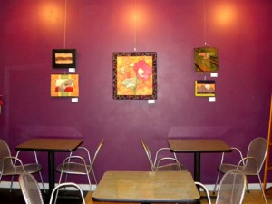 Ann Flaherty's work at Coffee & Crepes in Cary, NC