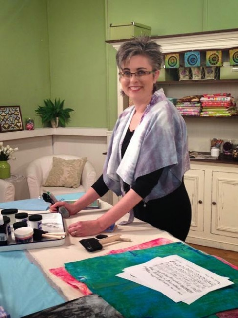 Behind The Scenes Filming For Quilting Arts Tv Lyric Art
