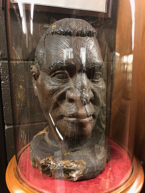maori bust carved from Kauri gum