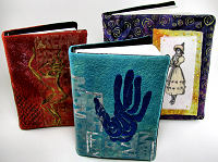 sketchbook slipcovers for Lyric Kianrd's surface design sampler platter workshop
