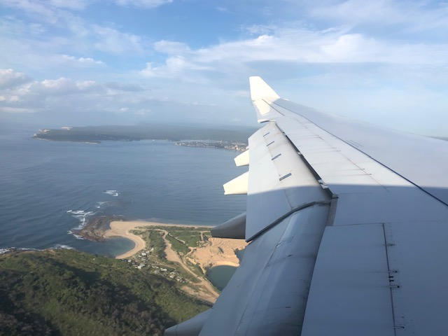 flying in to Sydney