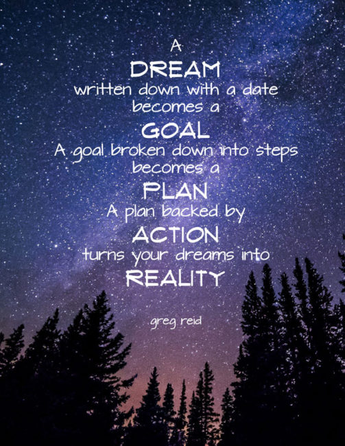 turn dreams into reality quote