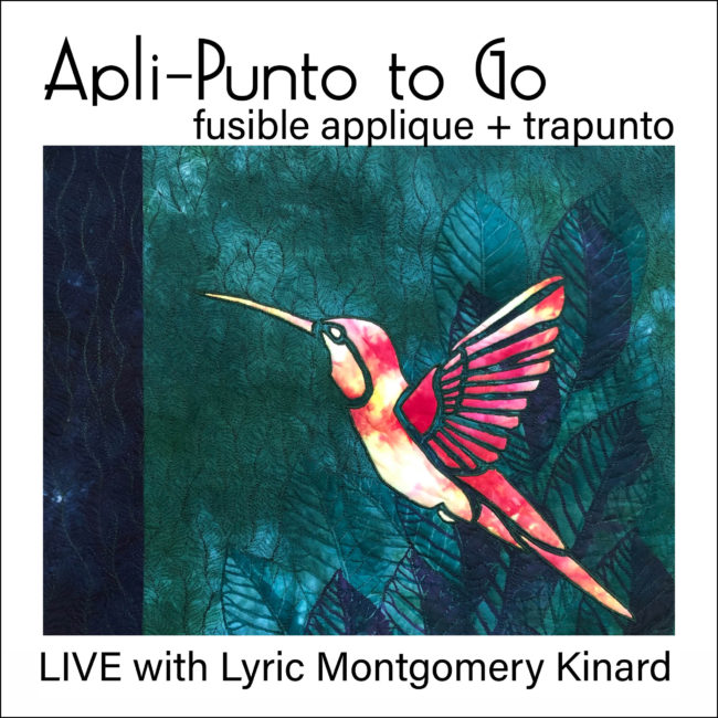 ad for lyric kinard's live virtual class apli-punto