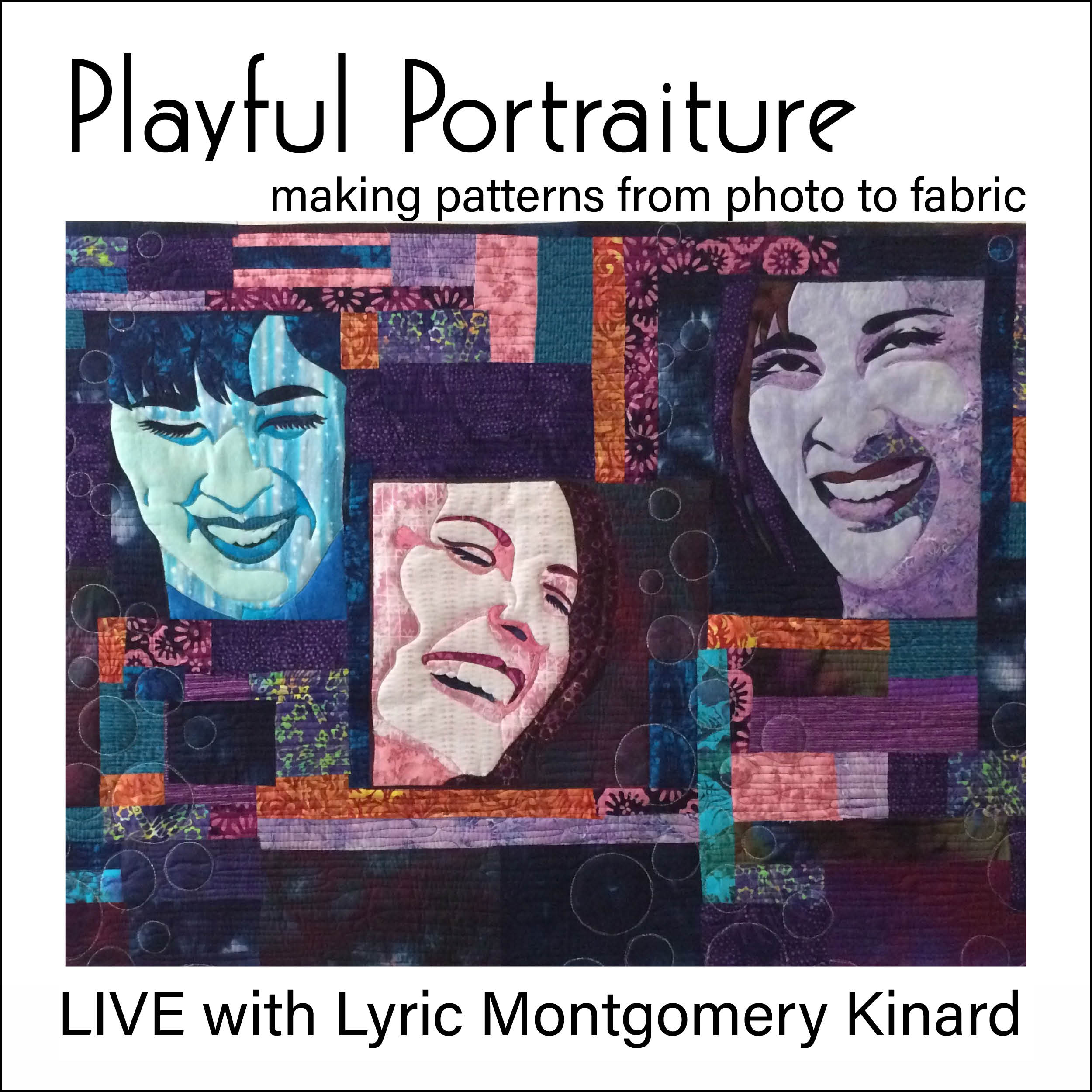Playful Portraiture live virtual class with lyric kinard