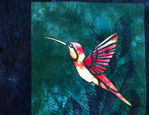 quilted hummingbird by lyric kinard