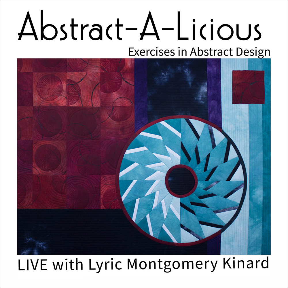 ad for lyric kinard's live abstract-a-licious class