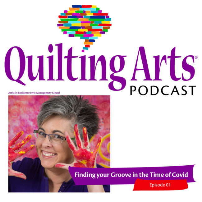 ad for quilting arts podcast
