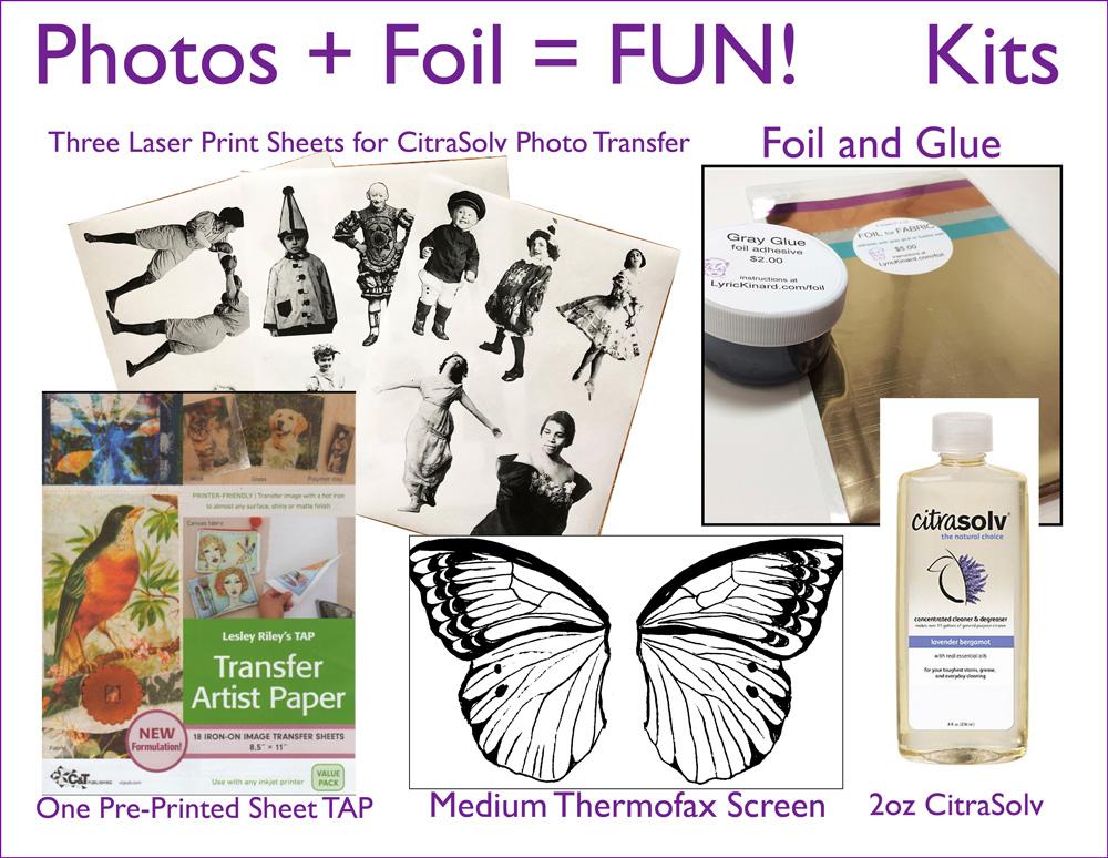 kit for photos plus foil equals fun class